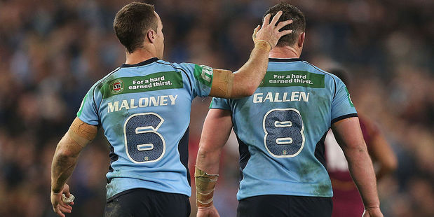 Key Cronulla and NSW duo James Maloney and Paul Gallen. Photo / Getty