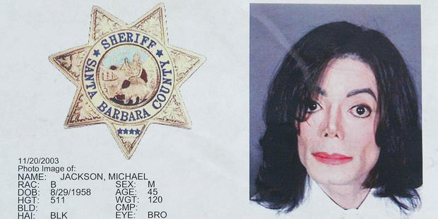 Loading The police mug shot of Michael Jackson after the singer's arrest in 2003. Photo / Getty Images
