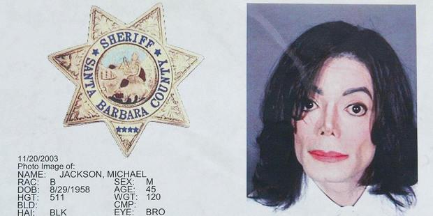 This photo shows a police mug shot taken of US pop star Michael Jackson at the Santa Barbara Sheriff's booking office in Santa Barbara. Photo / File