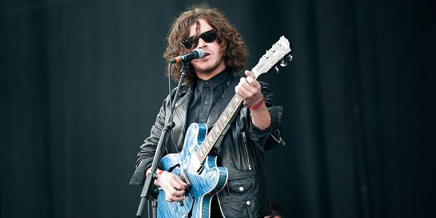 Kyle Falconer sings and plays guitar for The View. Photo / Getty Images