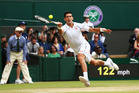 Novak Djokovic in the Wimbledon final 2015. Photo / Getty Images