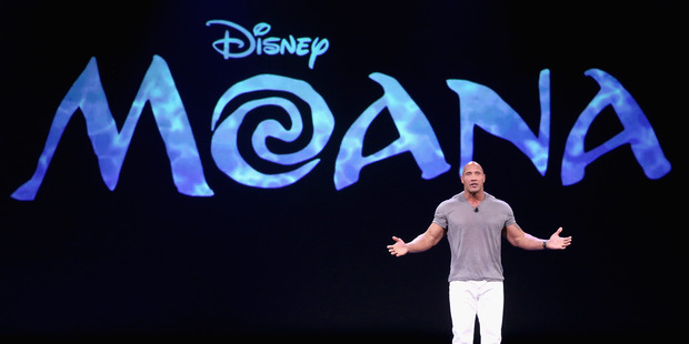 Actor Dwayne 'The Rock' Johnson voices the character of Maui in Disney movie Moana. Photo / Getty Imgaes
