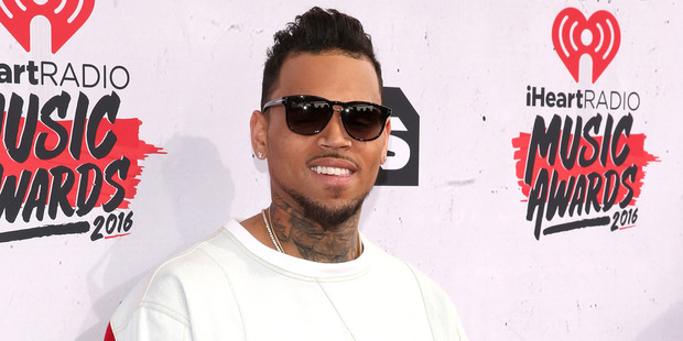 Chris Brown's breathing new life into the Running Man Challenge and fans are stoke. Photo / Getty Images