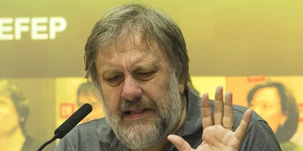 """No it won't do, not enough Leninism"", Zizek is probably saying here. Photo / Getty"