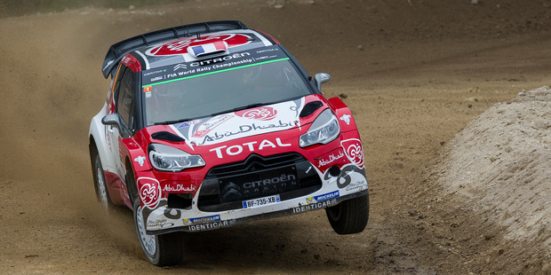 Stephane Lefebvre during the shakedown of the WRC Portugal. Photo / Getty Images