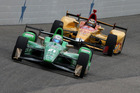 Josef Newgarden drives during the Verizon IndyCar Series Firestone 600 at Texas. Photo / Getty Images
