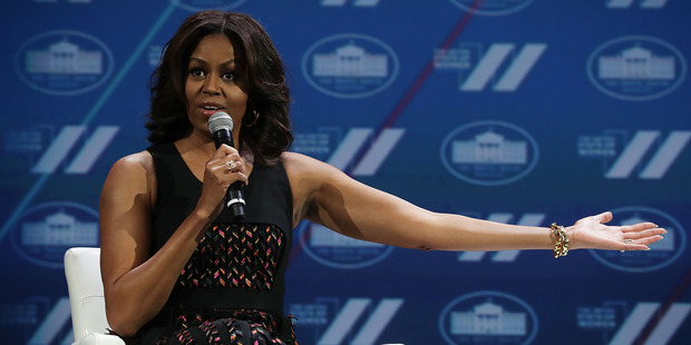 Who else cannot wait to see Michelle Obama drop the mic? Photo / Getty Images