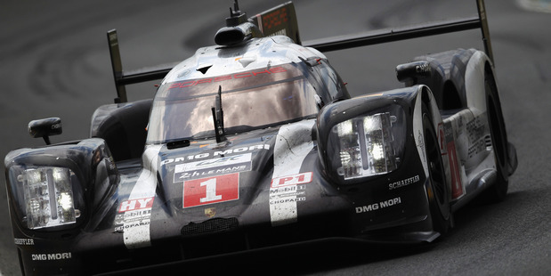 The Porsche Team 919 of Mark Webber, Brendon Hartley and Timo Bernhard at Le Mans. Photo / Getty Images