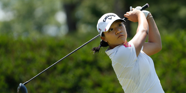 Lydia Ko watches her tee shot during the final round of the Meijer LPGA Classic. Photo / Getty Images