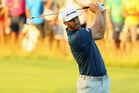 Dustin Johnson during the final round of the U.S. Open at Oakmont Country Club. Photo / Getty Images