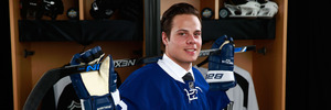 Auston Matthews poses for a portrait during round one of the 2016 NHL Draft. Photo / Getty Images