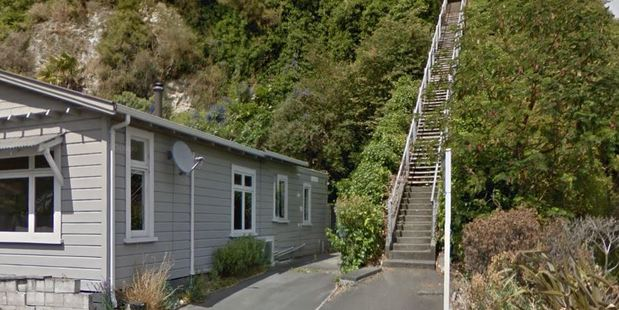 The stairs where the teenager was attacked. Photo / Google