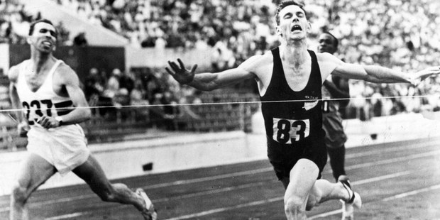 New Zealand runner Peter Snell winning gold at the Rome Olympics in the 800m. Photo / File