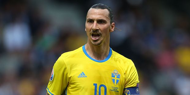 Zlatan Ibrahimovich may represent Sweden for the last time on Wednesday. Photo / Getty Images