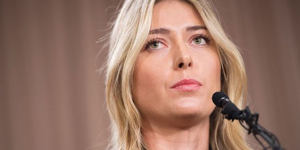 Russian tennis player Maria Sharapova has been handed a two year suspension after a failed drug test. Photo / Getty Images