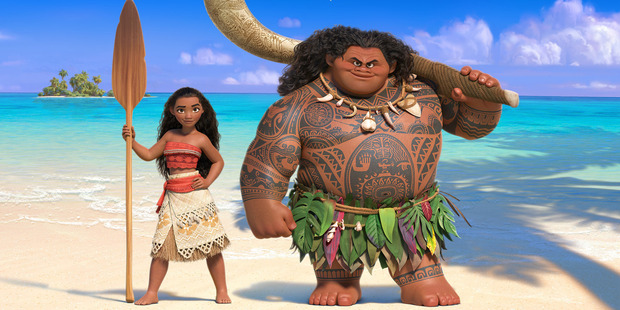 Moana and Maui in the upcoming Disney animated movie. Photo / Supplied