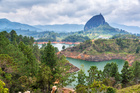 View of The Rock near Guatape, Colombia.