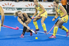 Black Sticks defender Liz Thompson says missing two key players is no excuse. Photo / John Cowplan