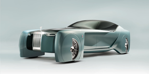Experts say AVs like the Rolls Royce Vision could be programmed to do the least harm possible in a crash. Photo / James Lipman