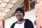 Homeless cancer teenager B talks to the media at Te Puea Marae Mangere Auckland. Photo / Doug Sherring
