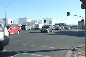 Hewletts Rd and Totara St intersection. Photo/John Borren