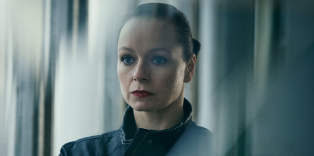 The television series The Last Panthers starring Samantha Morton.