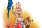 David Cameron as the ruler of Britannia. Illustration / Rod Emmerson