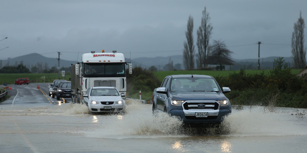 Wet weather dominated the Bay of Plenty Wednesday and Thursday causing flooding near Pongakawa. PHOTO/JOHN BORREN
