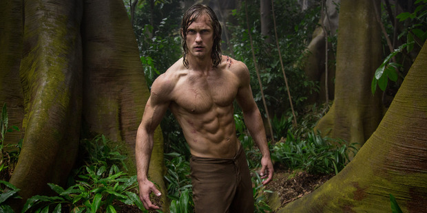 Loading Alexander Skarsgard stars as Tarzan in the movie, The Legend of Tarza.