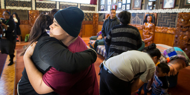 B and her family are farewelled at Te Puea Marae. Photo / Jason Oxenham