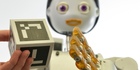 Service robot Floka has been programmed to act as a companion in the home and is still learning how to evaluate social situations. Photo / CITEC/Universität Bielefeld