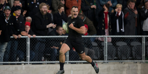 Loading Israel Dagg sprints in a try at fulltime against Wales during the third and final test match between the All Blacks and Wales. Photo / Brett Phibbs