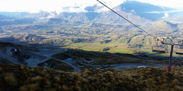 Nearly all the snow from earlier in the month has melted from Coronet Peak ski field near Queenstown after a period of mild weather spread across the country. Photo / Facebook