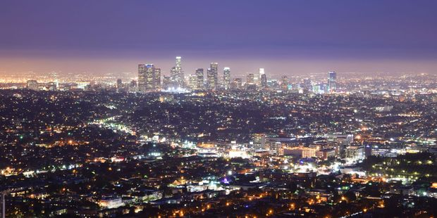 Downtown Los Angeles at night. Photo / Supplied
