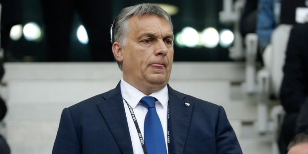 Hungary's Prime Minister Viktor Orban took out full page newspaper adverts to try to convince Britain to stay. Photo / AP