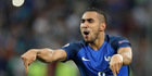 France's Dimitri Payet celebrates after scoring his side's second goal during the Euro 2016 Group A soccer match between France and Albania. Photo / AP.