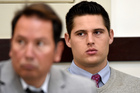 Brandon Vandenburg, right, a former Vanderbilt football player, was found guilty in a Nashville courtroom on all five counts of aggravated rape. Photo / AP