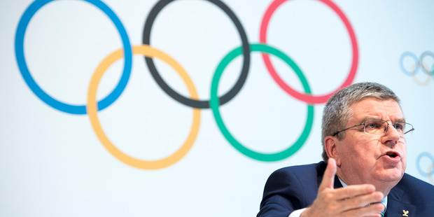 International Olympic Committee, IOC, President Thomas Bach, from Germany, speaks during a press conference after the Olympic Summit IOC in Lausanne, Switzerland. Photo / AP.