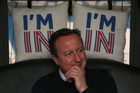 British Prime Minister David Cameron campaigning to stay in the EU. Polls are pointing towards a Stay vote. Photo / AP