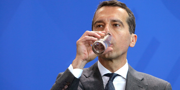 """Austria's new chancellor, Christian Kern has said that Brexit could mean the """"slow goodbye of the European idea"""" unless serious reform is carried out. Photo / AP"""
