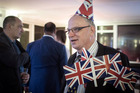 A supporter of leaving the EU celebrates at a party hosted by Leave. Photo / AP