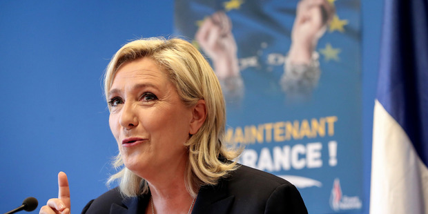 """Loading When the Brexit results were announced, French far-right leader Marine Le Pen, tweeted simply """"victory for freedom"""". Photo / AP"""