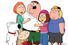 The Griffin Family: (L-R) Brian, Lois, Stewie, Peter, Meg and Chris in Family Guy. Photo / Supplied