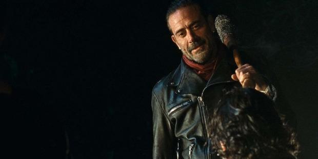 "Jeffrey Dean Morgan as Negan with his bat, ""Lucille"". Photo / AMC"