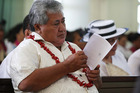 Samoan Prime Minister Tuilaepa Sailele Malielegaoi, pictured during a church service, is appalled by the local newspaper's recent front page. Photo / File