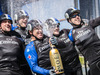Emirates Team new Zealand sailors celebrate winning at the Louis Vuitton America's Cup World Series New York. Photo / File.