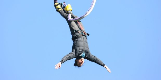On the bounce: Bungy jumping in Rotorua. Photo / NZ Herald