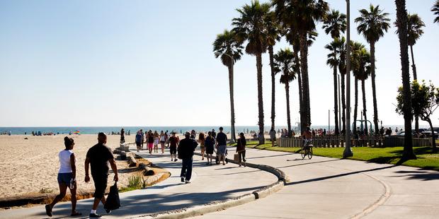 The boardwalk at Venice Beach in Los Angeles. Photo / Babiche Martens