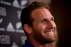 All Black player Kieran Read during a press conference held at the Heritage Hotel. Photo / Dean Purcell.