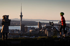 The views across Auckland from atop Mt Eden are astonishing. Photo / Greg Bowker